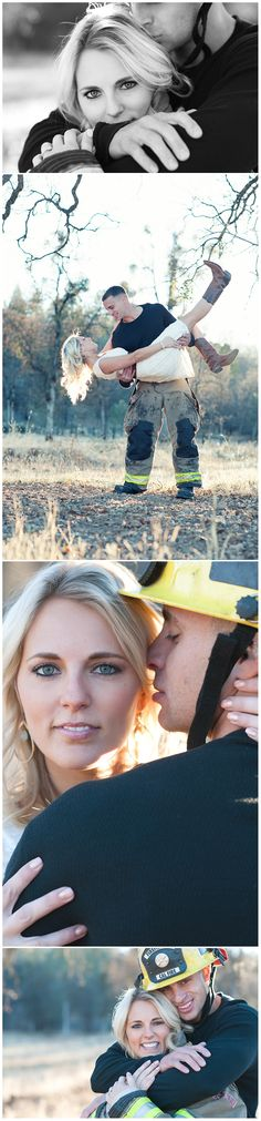 Firefighter Engagement Pictures Cohen Jonge Cohen K Firefighter Engagement Pictures, Firefighter Wedding, Firefighter Love, Engagement Couple, Engagement Shoots, Fireman Wedding, Country Engagement, Fall Engagement, Couple Photography Poses