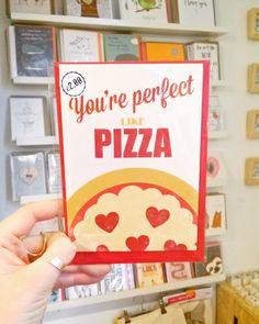 Back in stock!  #perfectlikepizza #valentines #valentinescard #alternativevalentinescard #justacard #shoplocal #itsinnottingham #lovenotts #nottingham #buyhandmade #shoplocal #stjamesstreetnotts