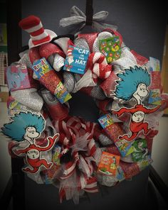 Dr Seuss wreath