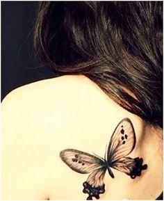 Butterfly tattoo meaning - beautiful and useful simple butterfly tattoo, . Simple Butterfly Tattoo, Butterfly Tattoo Meaning, Butterfly Tattoo On Shoulder, Butterfly Tattoo Designs, White Butterfly, Tattoo Bein, I Tattoo, Small Tattoo, Tatoo Art