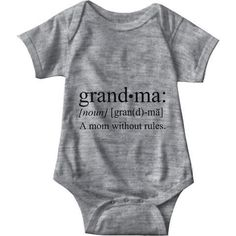 26 Sarcastic Onesies The Funny Baby Must Wear Grandma A Mom Without Rules Gray Baby Onesie Baby Outfits, Funny Outfits, Baby Design, Funny Babies, Cute Babies, Cool Baby Clothes, Babies Clothes, Mom Clothes, Diy Bebe