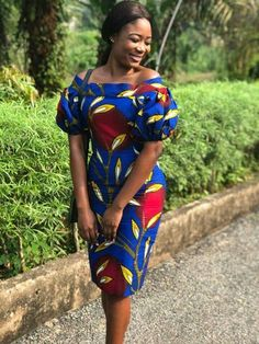Latest and Most Beautiful Ankara Short Gown Styles 2018 - WearitAfrica Latest Ankara Short Gown, Ankara Short Gown Styles, Trendy Ankara Styles, Short Gowns, African Wear, African Attire, African Women, African Dress, African Style