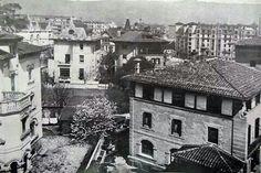 Indautxu 1935, antiguos chalets de los que quedan dos.