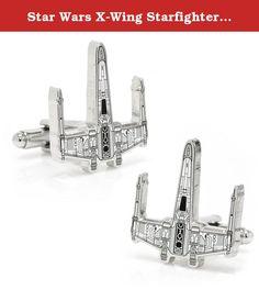 Star Wars X-Wing Starfighter Blueprint Cufflinks Novelty 1 x 1in. The Star Wars X-Wing Starfighter Blueprint Cufflinks are enamel with rhodium plated metal.