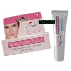Vincere Renewal Eye Cream Product of Thailand by Vincere. $32.99. ?Reduce dark circles  ?Reduce eye bags  ?Reduce fine lines  ?Absorb rate is fast  ?Highly effective  Instrucstion: Apply twice daily/ morning & at nighttime before sleep 7 Ml