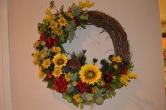 Summer Wreath Fall Wreath Door Decor by TheBloomingWreath on Etsy, $89.99