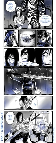 Fan Creepypasta by Ashiva-K-I Creepypasta Slenderman, Scary Images, Pyramid Head, Creepy Pasta Family, Eyeless Jack, Laughing Jack, Jeff The Killer, Horror Comics, Creepy Art