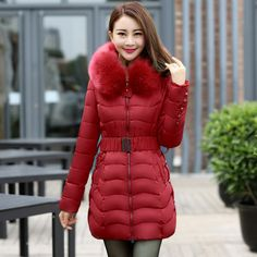 94.50$  Watch here - http://alio58.worldwells.pw/go.php?t=32793763019 - large size L-4XL long parkas for women winter hooded solid elegant ladies slim coat high quality women jackets and coats 94.50$