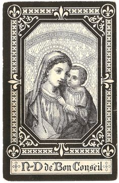 1893 Our Lady of Good Counsel Antique French by 12StarsVintage
