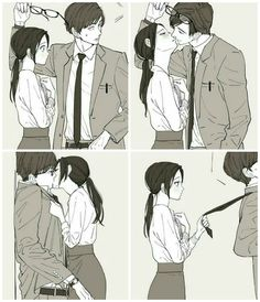 #Anime #Characters #Art #Girls #Boys #Couple #Love #Romantic #Draw. Please visit our website to support us! Manga Anime, Anime Couples Manga, Cute Anime Couples, Manga Couple, Cute Couple Drawings, Manga Comics, Couple Art, Anime Besos, Cute Kiss