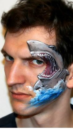 Olga Meleca face paintings shark