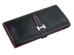 NEW Fashion Women's Pu Leather Wallet Clutch Purse Credit Card Lady Long Handbag (Black)