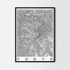 Tokyo art prints - Art posters and prints of your favorite city. Unique design of a map. Perfect for your house and office or as a gift.