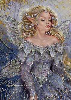Fairy princess.  Artwork by Maxine Gadd who is a published fairy artist