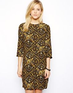 ASOS Shift In Chain Print.  Imagine this with black tights!