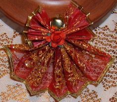 """""""Red Angel Wire Ribbon"""" - Homemade Christmas Ornaments at BetterBudgeting.com I actually madethese one year. They went missing!"""