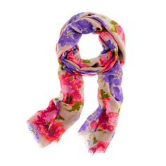 Printed wool scarf - accessories - Women's new arrivals - J.Crew