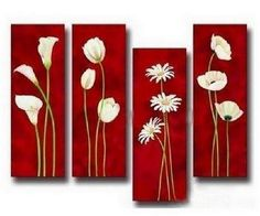 Flower Art Abstract Painting Wall Bedroom Modern Extra Large Contemporary
