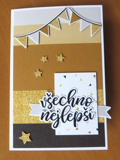 Birthday card from special kit from Papero Amo 5th Birthday, Birthday Cards, Happy Mail, Anniversary, Layout, Stickers, Mini, Projects, Bday Cards