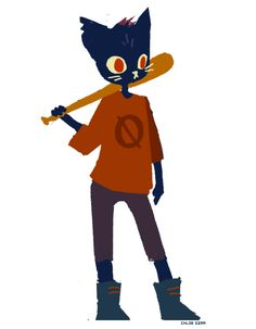"""azidraws: Quick doodle of the main character, Mae, from the upcoming game """"Night In The Woods"""""""
