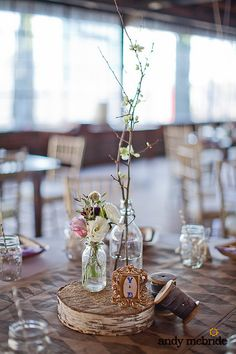 Country wedding decorations with birch.