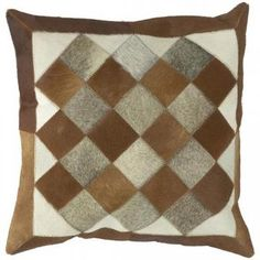 Quilt Squares Patterned Pillow - Throws And Pillows - Home Accents - Home Decor   HomeDecorators.com