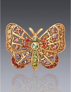 Carrie Butterfly Tack Pin - Flora