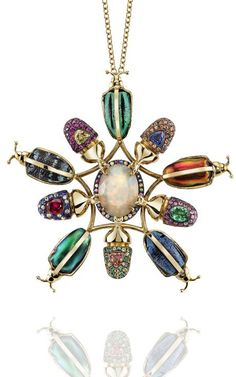 The 5th Element Necklace by Daniela Villegas for Preorder on Moda Operandi