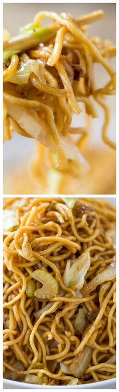 Panda Express Chow Mein Copycat Recipe ~ Tastes exactly like you're sitting down at the restaurant eating your combo plate except half the oil and it just takes a few minutes to make! This is making me so hungry right now. Panda Express Chow Mein, Pasta, Asian Cooking, Mets, Asian Recipes, Chinese Food Recipes, Asian Foods, Food Dishes, Love Food