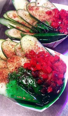 Cucumbers with Lucas and Chamoy