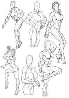 These were interesting poses. I enjoyed working out the one at the top as it involves quite a bit of foreshortening. Another thing that I tried to overcome is the temptation to work from left to ri...
