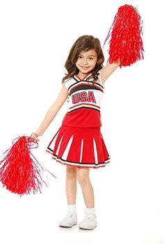 f714dd8b33 Charades USA Cheerleader Children s Costume