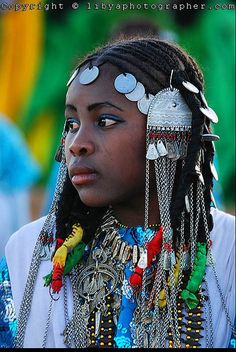 Tuareg girl's hair