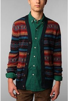 Koto Pattern Stripe Cardigan - We can totally get behind this. We love the print!