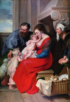 Peter Paul Rubens - The Holy Family with Saints Elizabeth and John the Baptist, 1615