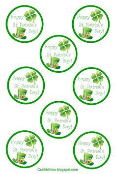 Craftibilities: St. Patrick's Day TAGS - FREE printable