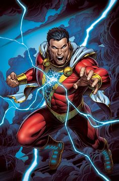 As writer Jeff Loveness takes the helm on Shazam!, June's variant cover is illustrated by fan-favorite artist Dale Keown. Captain Marvel Shazam, Shazam Comic, Arte Dc Comics, Dc Comics Superheroes, Dc Comics Characters, Marvel Comic Character, Dc Comic Books, Comic Book Covers, Comic Art