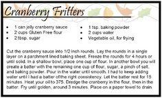 #glutenfree cranberry fritters