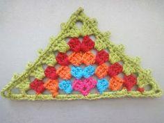 "Бабушкин треугольник ""Grandmother"" triangle Crochet - YouTube"