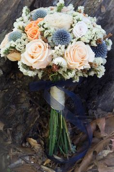 Gorgeous dried pastel rose wedding bouquet! Perfect for your spring or fall wedding flowers! Get yours at pickabloom.com!