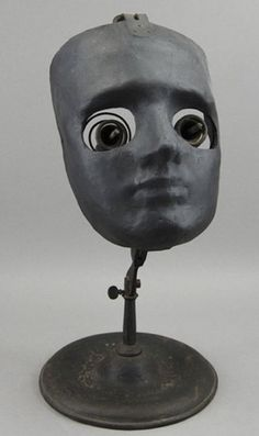 This is Opthalmophantome, antique surgical training tool from the early 20th century. Animal eyeballs were clamped into the eye sockets so that budding ophthalmologists could practice their, er, chops.