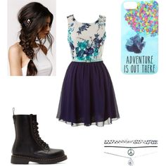 More shizz by loving-life-kayla on Polyvore featuring polyvore, fashion, style, Dr. Martens, Wet Seal, With Love From CA and Disney