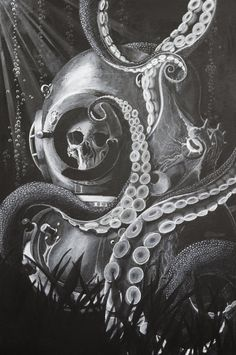 At a Benthic Measure Octopus & Diver helmet. by BrandonHolmesArt