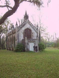 This small church is at Laurel Hill Plantation