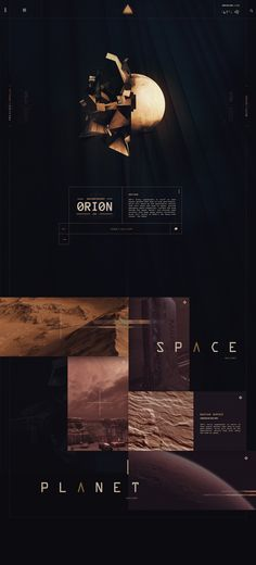 Planets Concept Space Website
