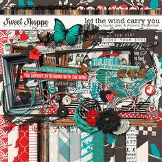 Sweet Shoppe Designs::Digital Scrap Kits::Let the Wind Carry You by Shawna Clingerman and Lauren Grier