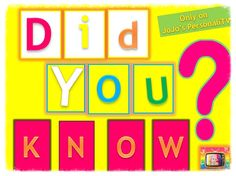 Did You Know  Mini Show