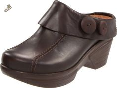 Sanita Women's Nikolette Clog,Dark Brown,40 EU/9.5-10 M US - Sanita mules and clogs for women (*Amazon Partner-Link)