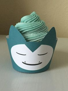 Pokemon GO Snorlax inspired Cupcake Wrapper by FancyAndFunFamily