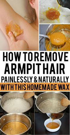 Hair removal isn't most people favorite past time, but there are many ways to remove hair on your skin including your under arms without shaving. How to Remove Armpit Hair Painlessly and Naturally With This Homemade Wax Diy Waxing, Homemade Waxing, Homemade Sugar Wax, Waxing Tips, At Home Waxing, Homemade Beauty, Remove Armpit Hair, Winter Make-up, Deep Winter